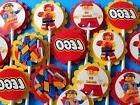 30 LEGO  Cupcake Toppers Birthday Party Favors, Baby Shower