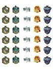 """30 Harry potter house cupcake toppers 1.5"""" wafer paper/icing"""