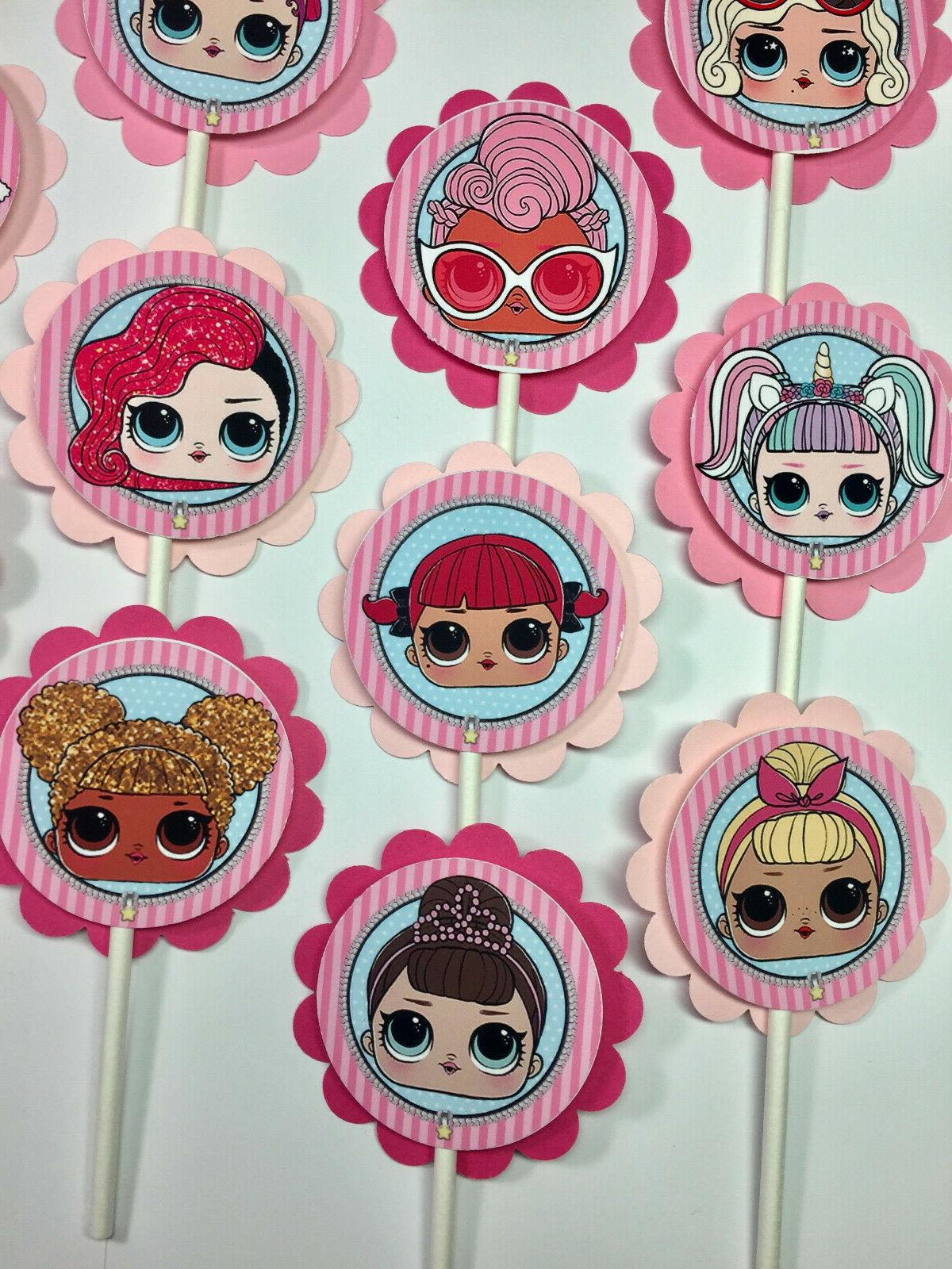 30 LOL Dolls Dimensional Party Cupcake to Ship*