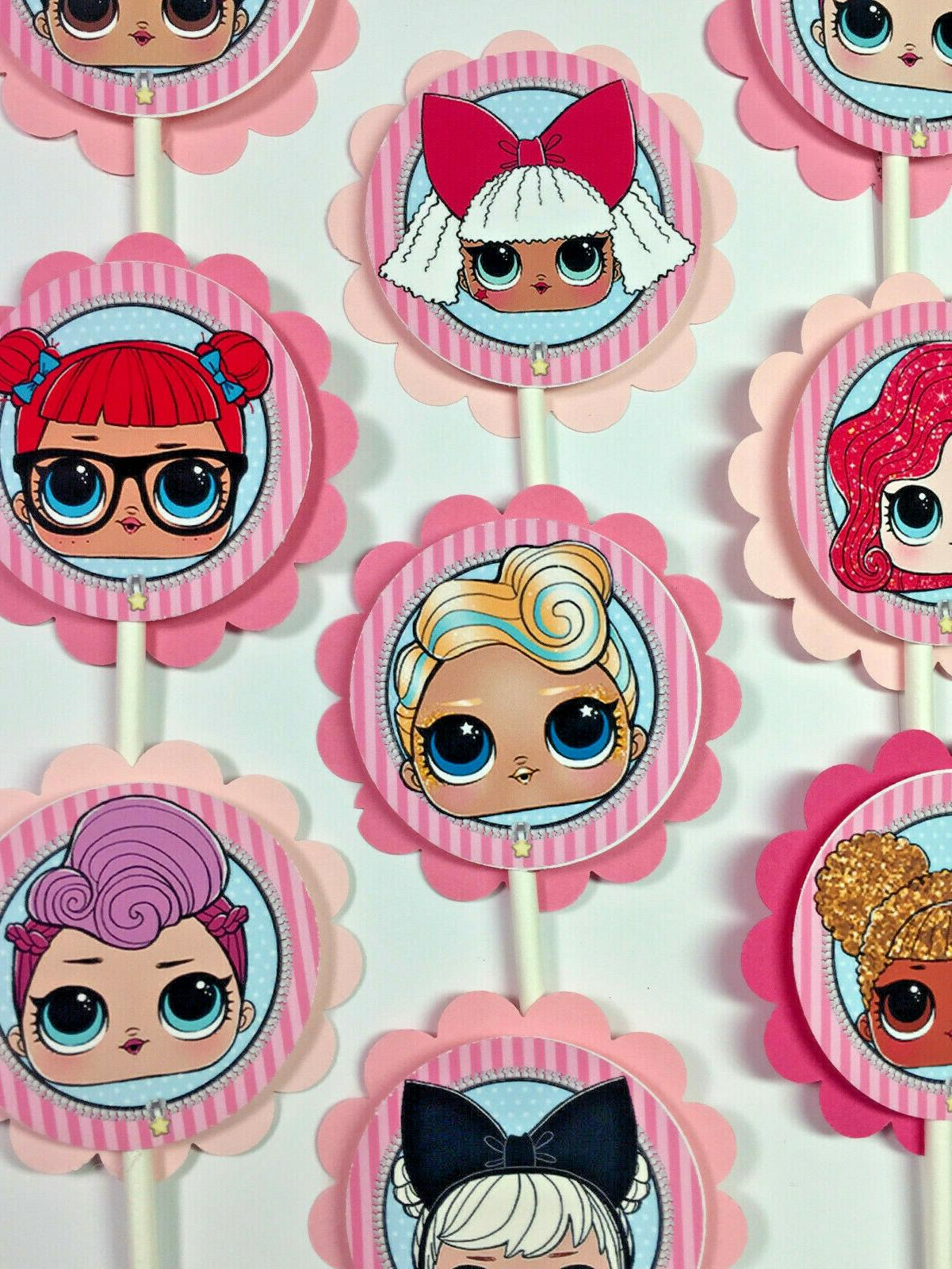 30 lol dolls dimensional party cupcake toppers