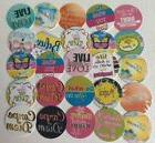 "30 PRECUT 1"" Quotes Sayings Bottle Cap Images Cupcake Topper"