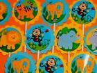 30 safari jungle noah animals cupcake toppers