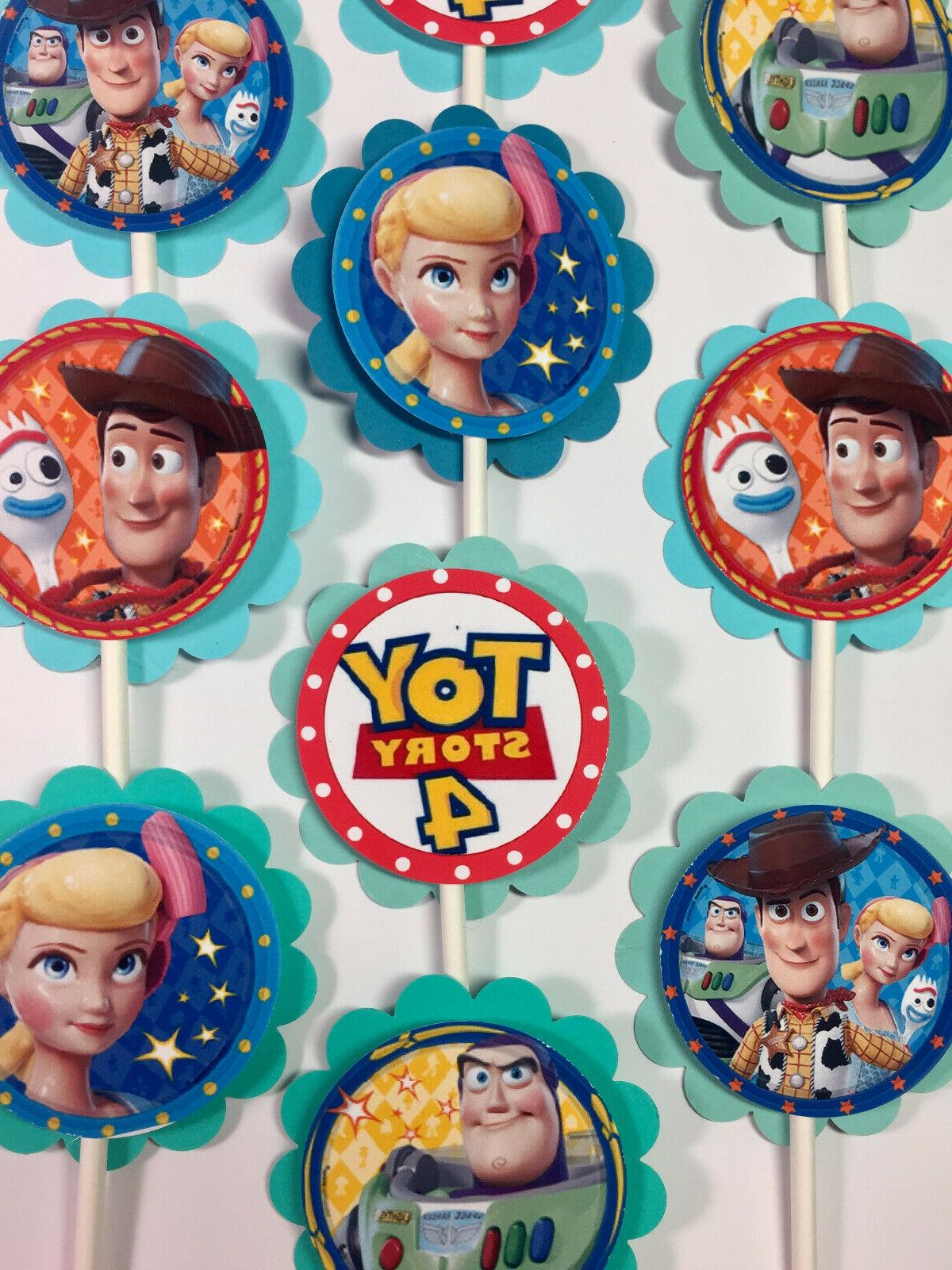 30 toy story 4 party cupcake toppers
