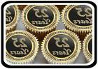 30 X GOLD 25TH BIRTHDAY ANNIVERSARY  EDIBLE CUPCAKE TOPPERS
