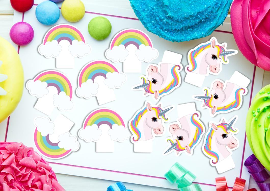 30 MINI Unicorn & Edible Cupcake Cake