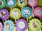 30Ct SAFARI JUNGLE NOAH ANIMALS Cupcake Toppers Party Favors