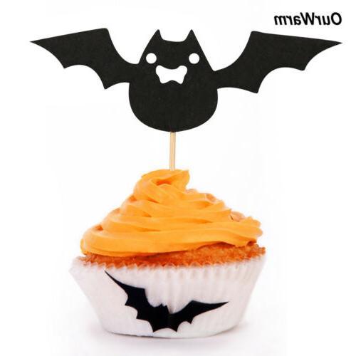 30pcs Cupcake Toppers Pumpkin Food