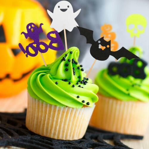 30pcs Halloween Pumpkin Food Picks