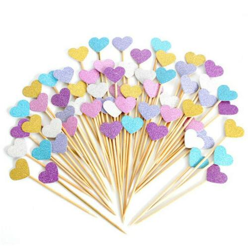 10/40pc Love Cupcake Toppers Party Shower Cake