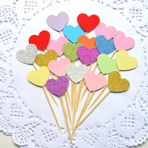 10/40pc Love Cupcake Toppers Shower Decor