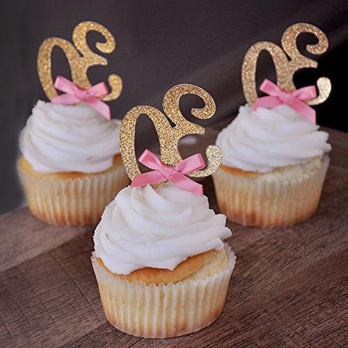 30th Birthday Cupcake Toppers 12CT. 30th Birthday Decoration