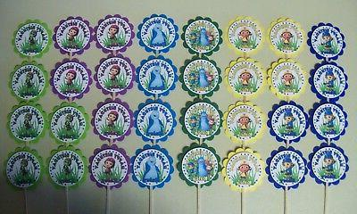 32 BEAT BUGS Personalized Birthday Cupcake Toppers Party Fav