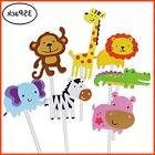 35 Pcs Jungle Animals Cupcake Toppers Picks Zoo Animal Cake