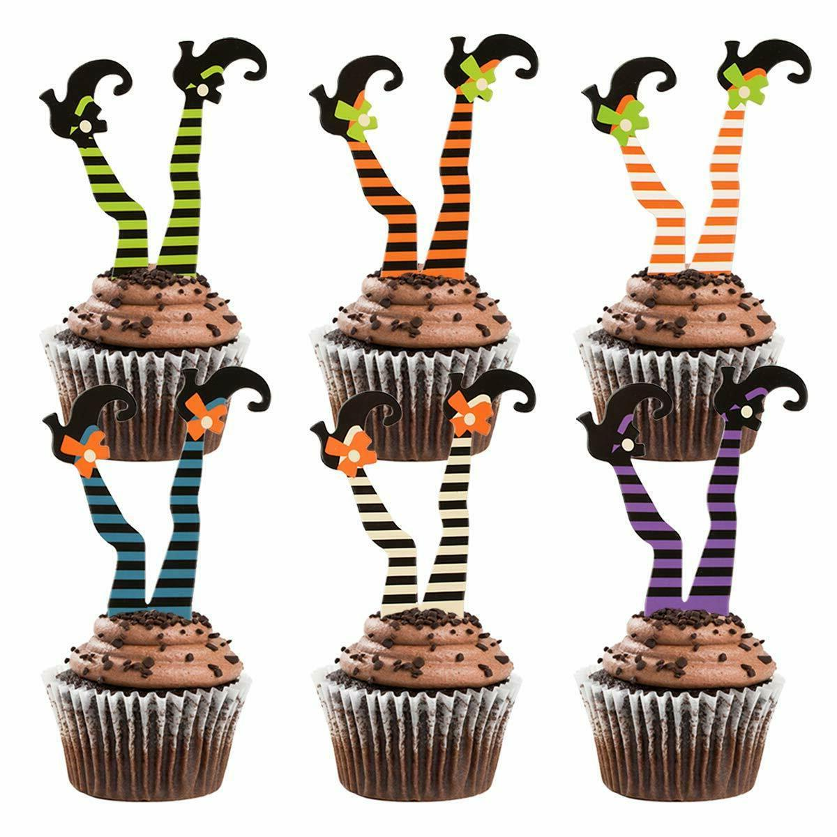 36 pcs witch s boot cupcake toppers