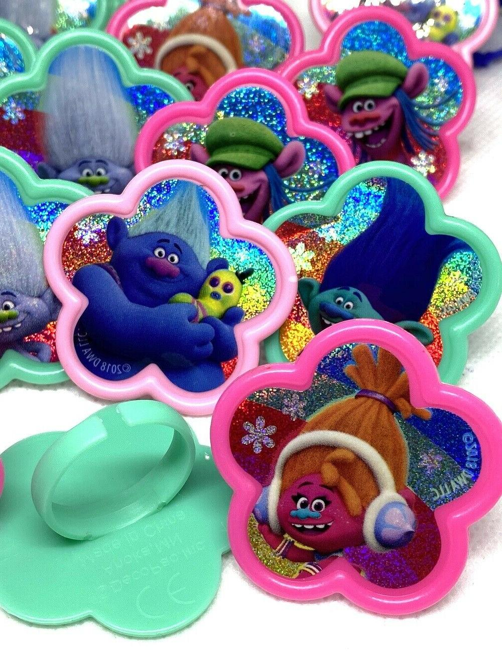 36 Trolls World Tour Cupcake Toppers Birthday Party Favors R