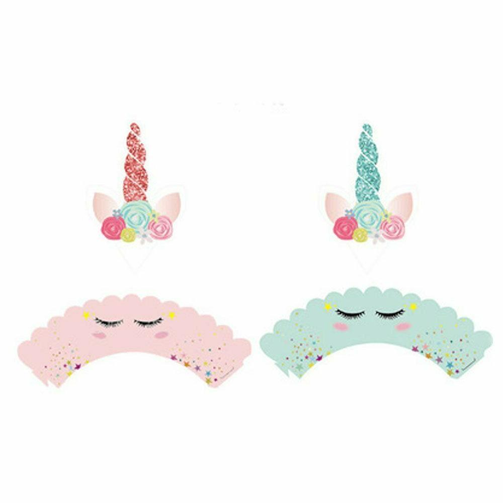 36pcs Unicorn and Wrappers