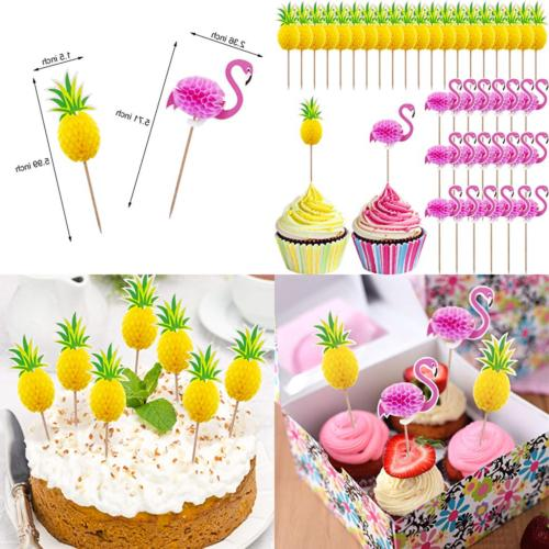 40 pc cupcake toppers cocktail picks cake