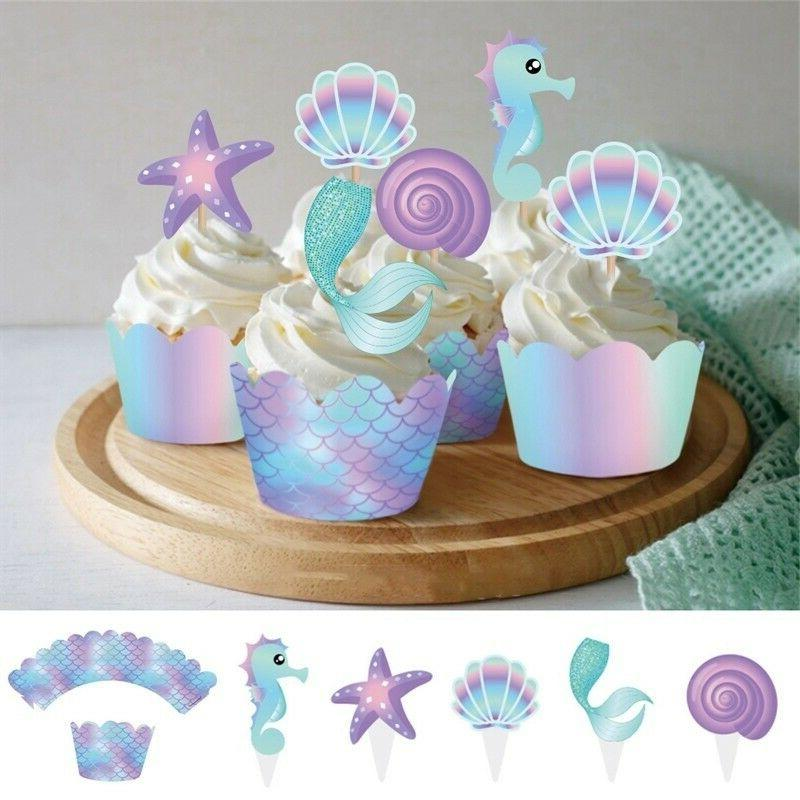 40Pcs/lot Wrappers Cupcake Baby Shower Party Cupcake Supply