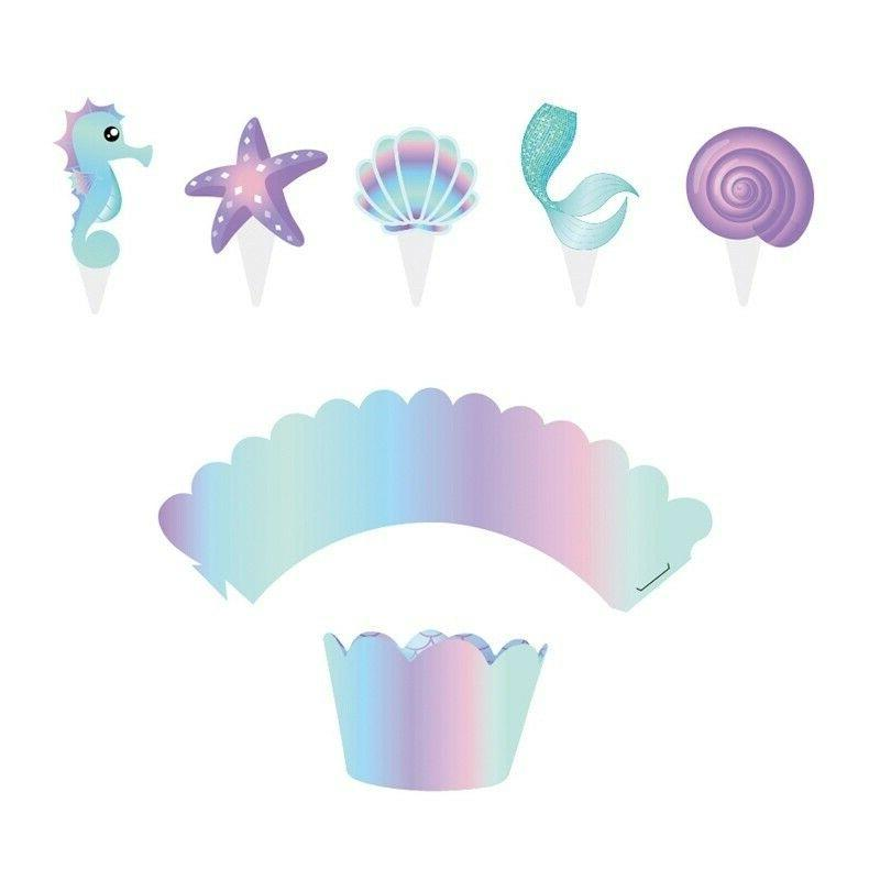 40Pcs Mermaid & Toppers Baby Shower