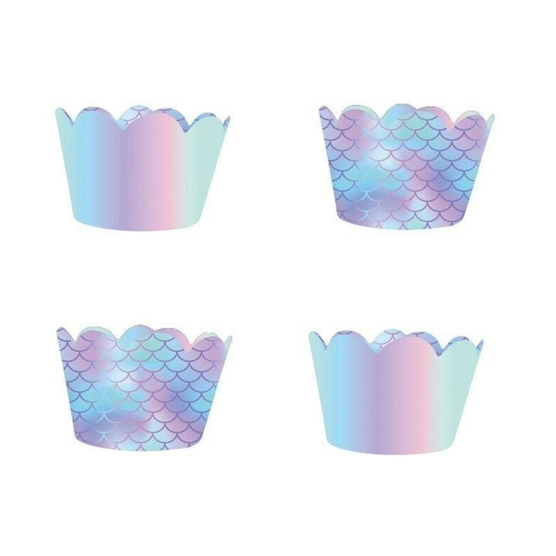 40Pcs Mermaid Cupcake & Toppers Birthday Party Decoration