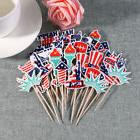 48pack 4of July Patriotic Cupcake Topper 12-Design Cupcake P