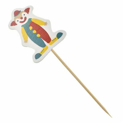 48pcs/1set Circus Cupcake Stick Toppers Children Cake