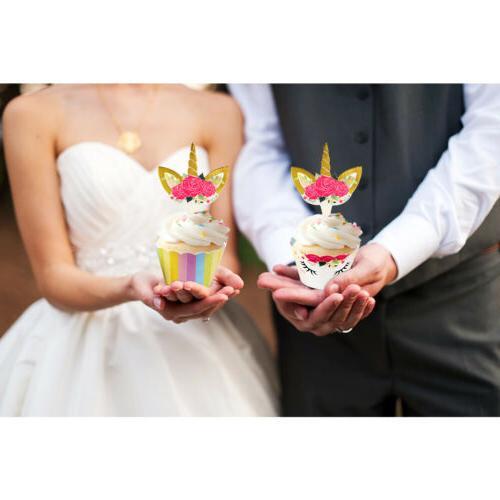 48pcs Topper Cake Birthday Wedding