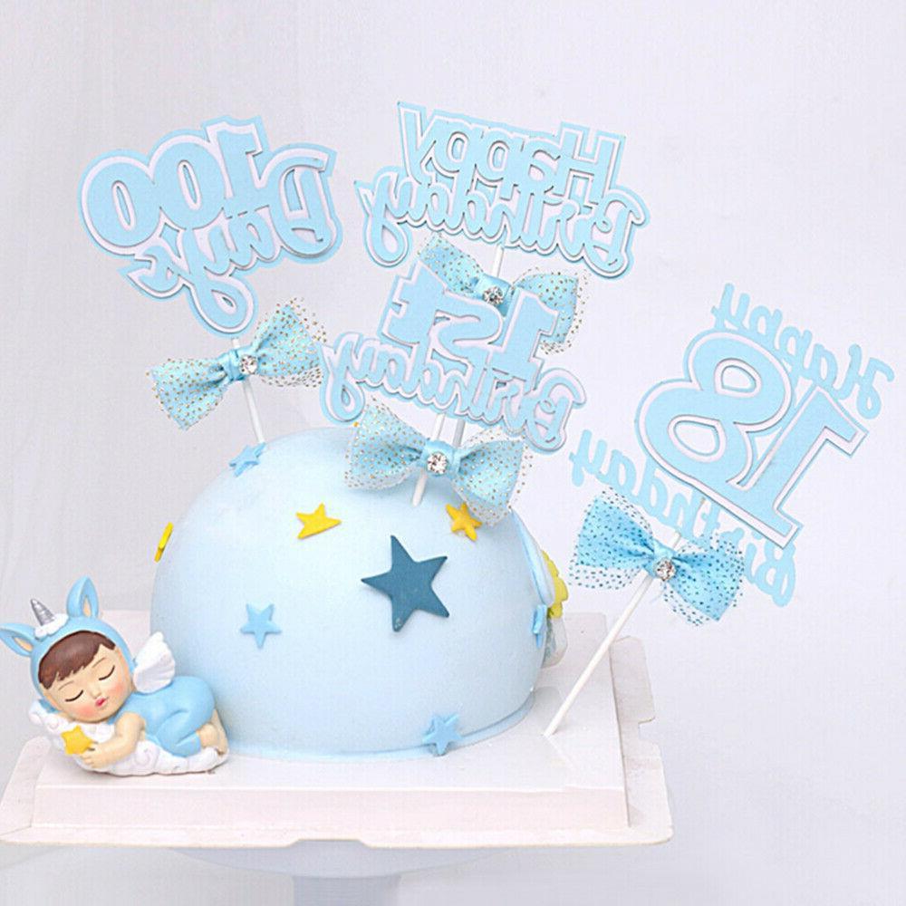 4pcs Picks 18 Birthday Cake Picks Cupcake Topper