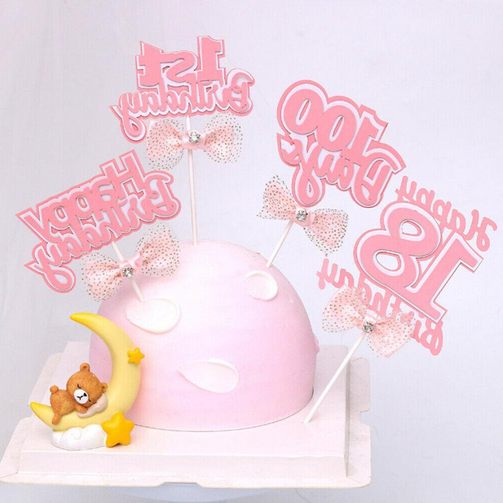 4pcs Cake 18 Years Old Paper Birthday Topper