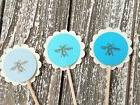 50 bee cupcake toppers wedding baby shower