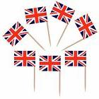 50 Union Jack British Flag Toothpicks Party Decorations Cupc