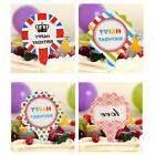 50pcs Happy Birthday Cake Cupcake  Topper Food Topper Shower