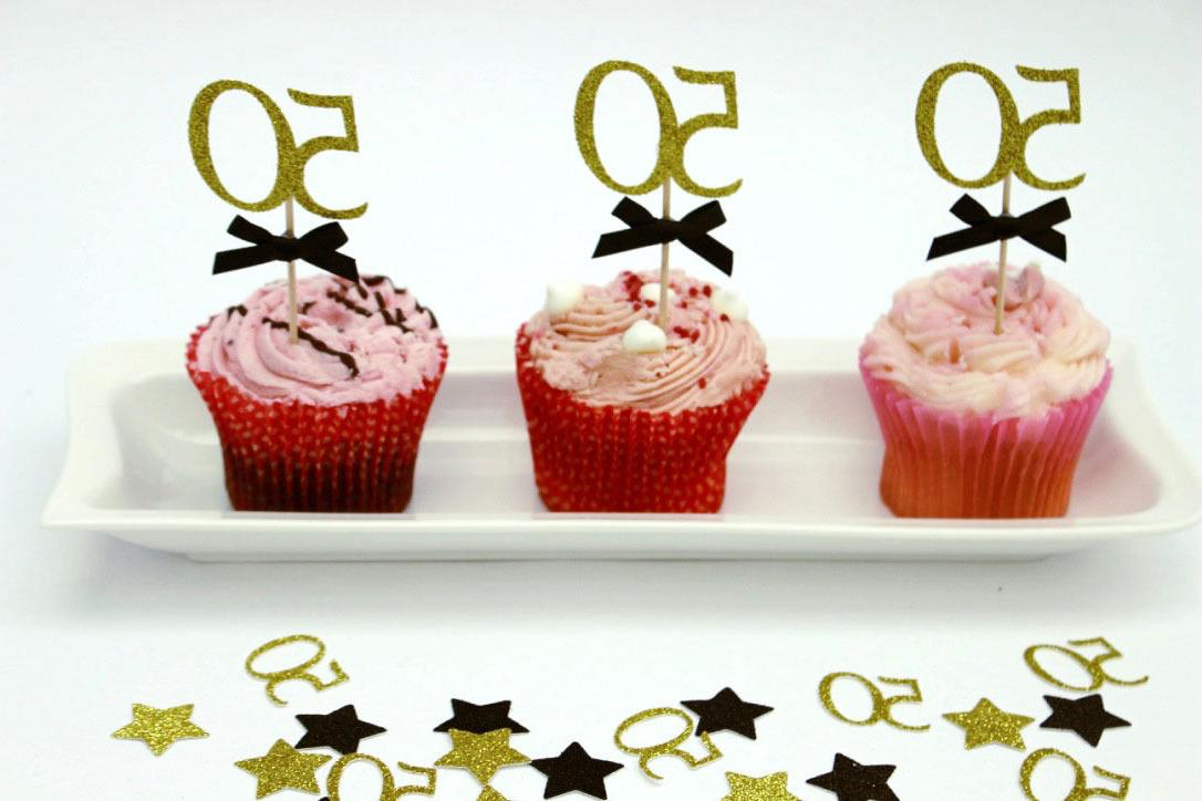 50th birthday cupcake toppers party accessories fifty