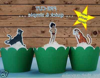 #553. Jungle Book edible stand up wafer toppers cupcake cake