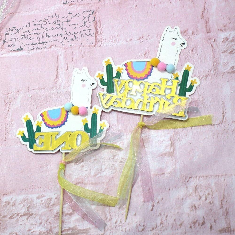 5pcs Cactus Cake <font><b>Topper</b></font> Cartoon Party Decoration <font><b>Supplies</b></font> <font><b>topper</b></font>
