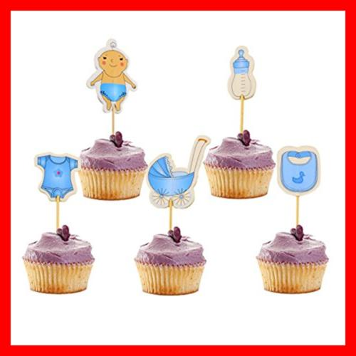 60 Baby Shower Cupcake Toppers Cake