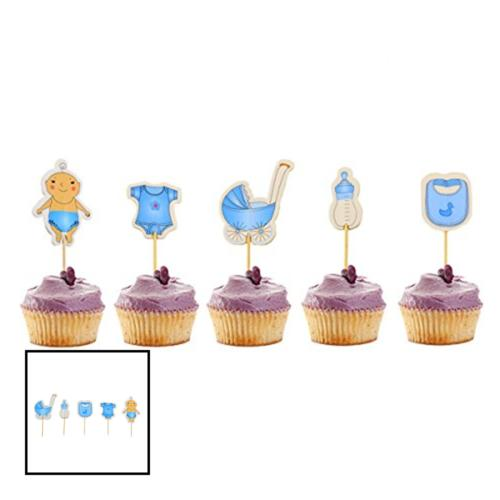60 ct boy baby shower cupcake toppers