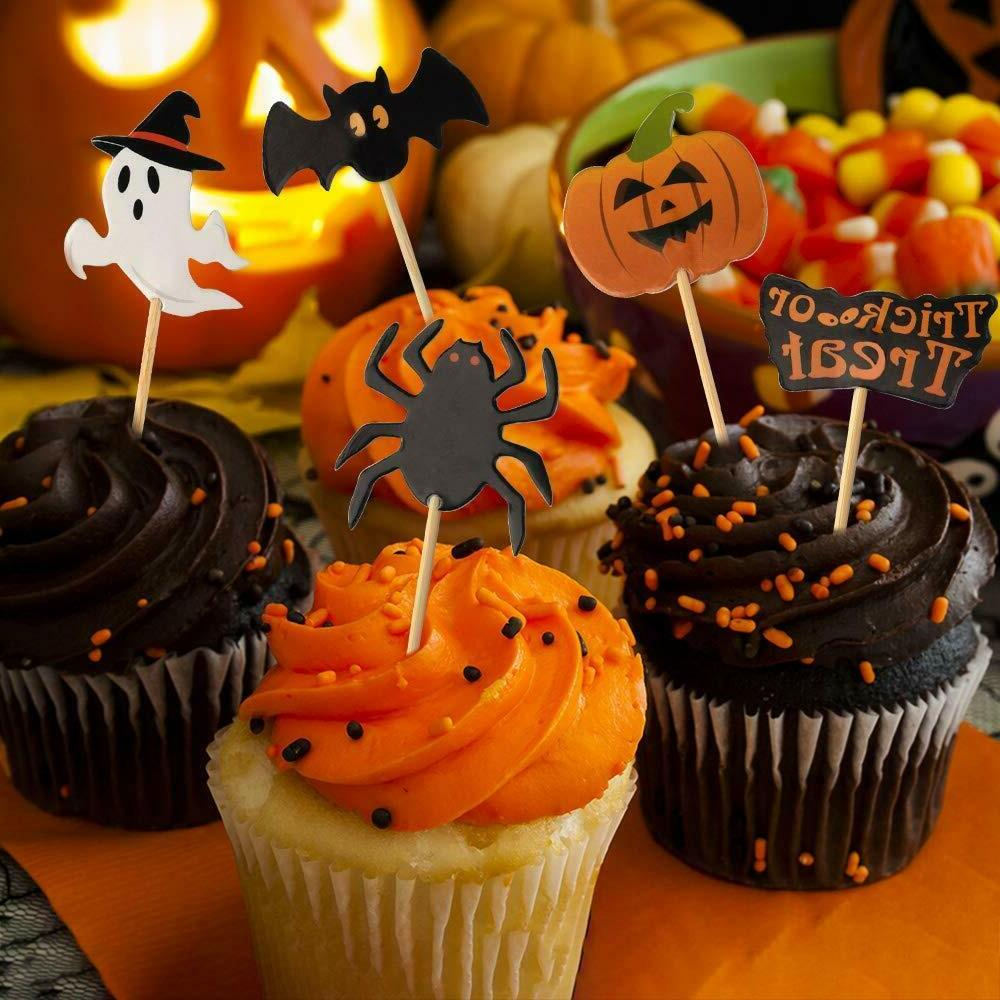 60 Pieces Halloween Toothpick Flags Party Decoration