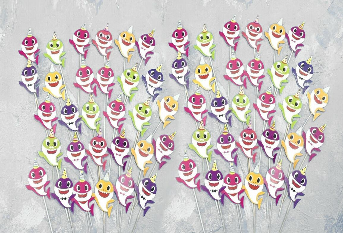 60pc baby family cupcake toppers for kids
