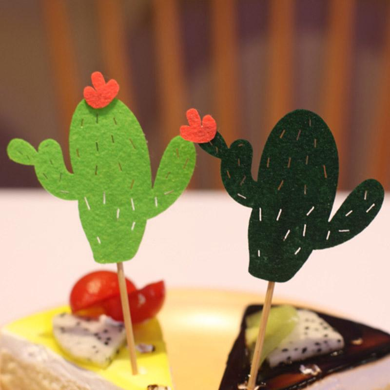 6pcs <font><b>Cactus</b></font> <font><b>Topper</b></font> Cake Birthday Party Decorating