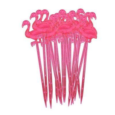 72 PINK FLAMINGO COCKTAIL APPETIZER PICKS TOPPERS *NEW*