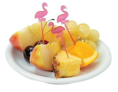 72 pink flamingo food cocktail appetizer picks