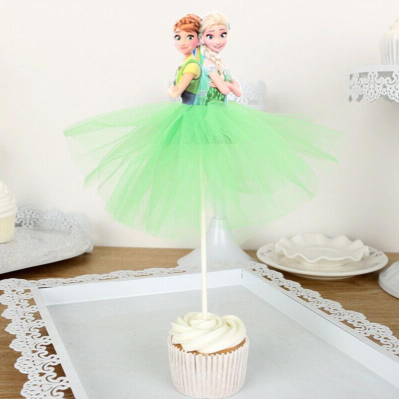 7pcs Princess Toppers Cake Kids Birthday