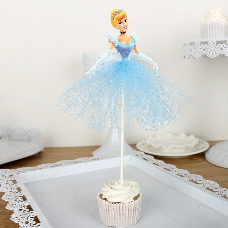7pcs Princess Toppers Cake Decorations Kids