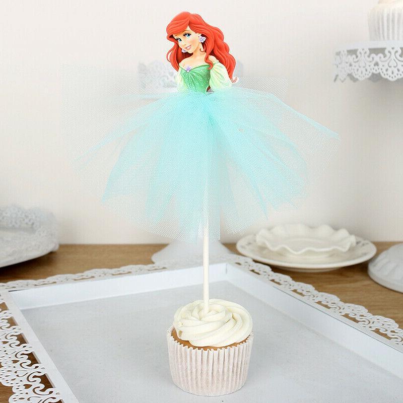 7pcs Disney Princess Cupcake Toppers Kids
