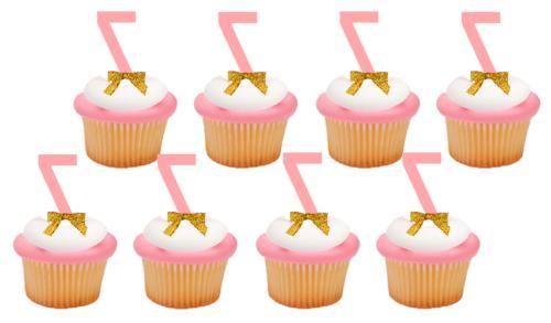 7th Birthday / Anniversary Pink Number Cupcake Topper Picks