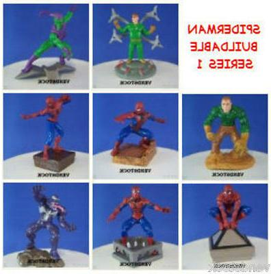 8 NEW MARVEL SPIDERMAN BUILDABLE SET #1 MINI FIGURE CUP CAKE