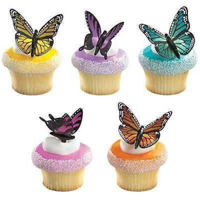 DecoPac Butterflies DecoPic Cupcake Picks