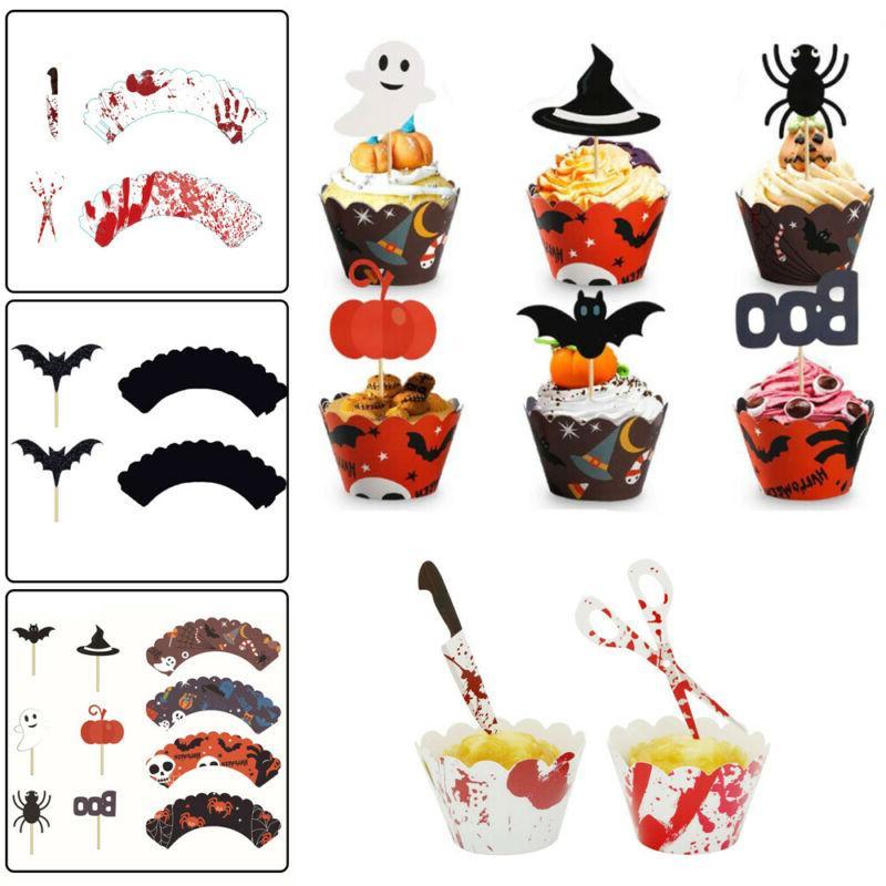 accessory wrappers cupcake decor halloween decorative sticks