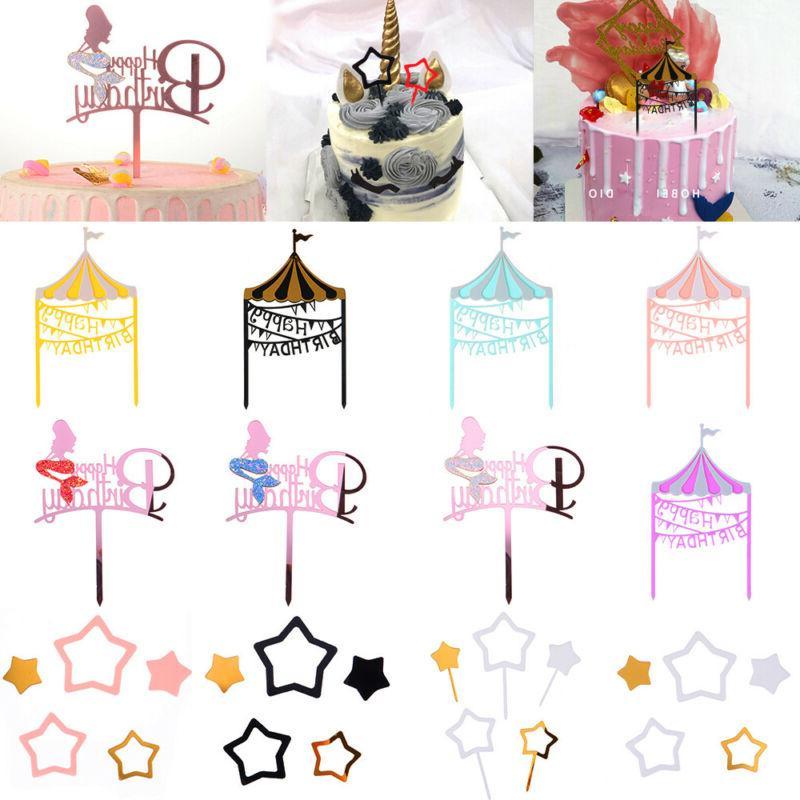 acrylic cake topper multicolor playground cake decorating